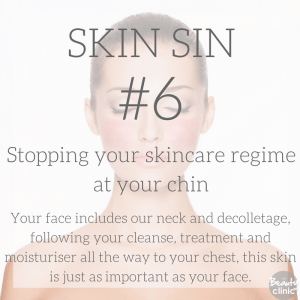 Skin sin 6- stopping your skincare at your chin