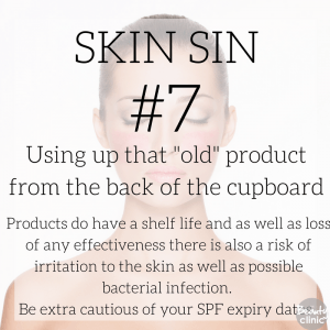 Skin sin - using up that old product